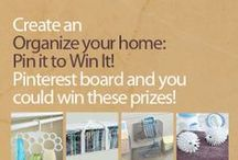 Organization Ideas - Pin to Win!  / Enter to win a prize pack with organization helpers from Current Catalog - details here: http://www.currentcatalog.com/blog/organize-your-home-pin-to-win/ / by Current Catalog