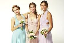 Bridesmaids / Different styles and colours from the brilliant Twobirds bridesmaids collection.