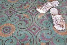 Floors and Their Coverings / Inspiration for stenciling floors and floor coverings with our custom SayWhat? Stencils.