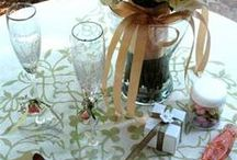 Stenciled Wedding Accessories / DIY your own wedding banners and accessories using our custom SayWhat? Stencils