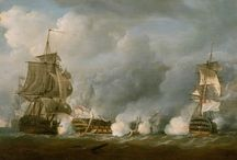 ships / paintings of ships and naval battles