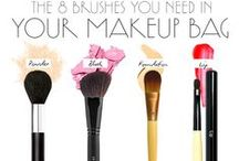 Face Makeup Tutorials + Tips / Most women have the same exact problem: a cosmetic bag that's overflowing, but no clue exactly what to do with all the products. Here's a collection of makeup essentials you need for a flawless face—and makeup application tips and makeup tools that will help you get the look just right with confidence.