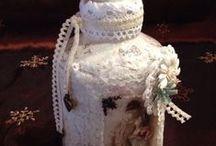 ornaments, dísztárgyak, decoupage / Egyedi díszítésű tárgyak