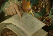 art in details / details of 18th/19th century portraits snd paintings
