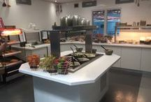 London South Bank University - 'Book & Latte' Cafe / We were privileged to work with LSBU to redesign, build and install brand new catering facilities which included an open plan professional kitchen facility along with a free-flow food servery.