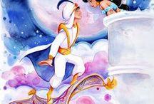 A Whole New World / #Aladdin #Jasmine #Disney #Agrabbah #Carpet #Genie