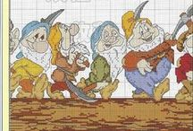Borduren sprookjes / cross stitch fairy tails / Sprookjes figuren