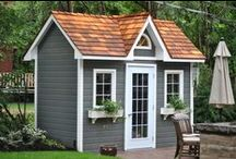 Garden Sheds / premium prefabricated or precut shed kits ranging from rustic to regal, large to small wood sheds