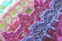 Crochet works / I make another board with crochet stitches.