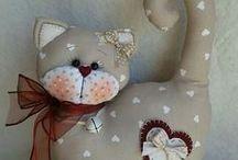 Handmade dolls and fabric ornaments