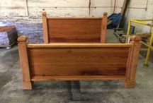 Beds  / Beds made of reclaimed or new wood. Styles will vary, can build direct to specifications that you provide