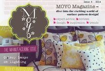 MOYO Magazine / The worlds only online magazine dedicated to surface pattern. Packed with interviews, design briefs, colour, art reviews, student showcases, design tips, inspiration, trends and more. This free magazine can be found here: http://makeitindesign.com/moyo-magazine/
