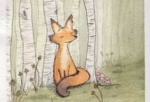 "F O X / I simply love foxes.  To me they are half dog half cat.    They always look cheeky, cute and friendly       They're known for their cleverness and their ""I eat everything"" philosophy.  A fox has three main colors, organge, white and black. Fox orange reminds me of a lovely afternoon in october. The last light of the sun flickers upon your face and you feel warm and save."
