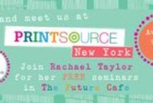 """Trade Shows + Events / We are extremely proud of many of """"The Art and Business of Surface Pattern Design"""" e-course students who have exhibited at tradeshows around the world including Printsource, Surtex, Indigo, Progressive Greetings, Home, Top Drawer, Spring Fair and more!"""