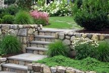 Rustic gardens & stone art / Idyllic garden scenes and interesting stone structures.