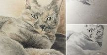 RMA Drawings / Charcoal, graphite, pencils, & pastels: Rowena's hand-drawn portraits. Now accepting commissions.