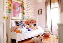 Room sets / Real and mocked-up room sets filled with beautiful surface pattern design.