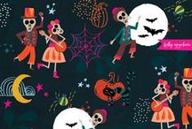 Halloween Inspiration / We're sharing our top surface pattern ideas, inspirations and really cool stuff from around the web so you too can create eerie invitations using freaky fonts, wear frightful fashions and put up devilish decorations this Halloween!
