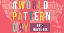 #WorldPatternDay / Celebrate #WorldPatternDay with us on November 14 to mark our birthday!  http://makeitindesign.com/world-pattern-day/
