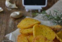 antipasti - stuzzichini - tartine / verdure, salumi, mais, ceci, formaggio