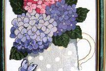 Cross stich flowers
