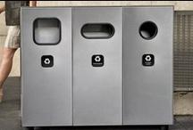 Corbeilles et recyclage / Voici quelques corbeilles et contenants de recyclage disponibles chez ATMOSPHÄRE.