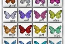 AILES DE PAPILLON / de petites ailes de papillon en soie ou en film polyester transparents, pour vos créations : anges,fées,bébés papillon... vendus en lots ou au détails dans ma boutique Magicrea
