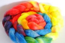 My hand dyed roving