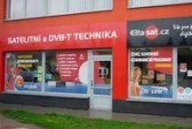 Výlohy prodejen / Grafické návrhy polepů výloh společnosti Eltasat (2009-2013)