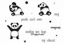 Panda Can't Even Stamp Set / A board featuring creations using this couture stamp set