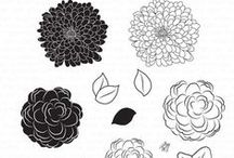 Simple Florals Stamp Set / A board featuring creations using this couture stamp set