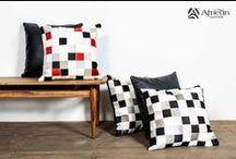 Cojines African-Leather / Cojines de cuero de bovino en pelo African-Leather,  hazlos en la medida, diseño y colores que prefieras. Una perfecta decoración para el hogar.