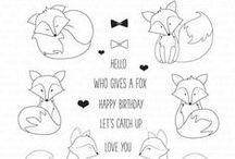 Hey Foxy Stamp Set