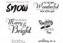 Holiday Lyrics Stamp Set