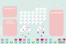 Calendar / Calendarios / Colección de calendarios para imprimir y para fondo de pantalla.