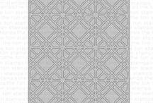 Geometric Lattice Die and Background Stamp