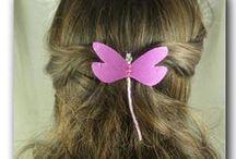 BARRETTES LIBELLULES / barrettes françaises libellules de soie pour coiffure disponibles en boutique Magicreation