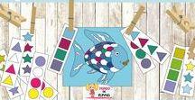 Cuento El Pez Arcoiris. Actividades y Manualidades / The Rainbow Fish Book. Activities / Recopilación de ideas para actividades, juegos, manualidades e imprimibles del cuento Pez Arcoíris // Collecting ideas for activities, games, crafts and printable of Rainbow Fish book