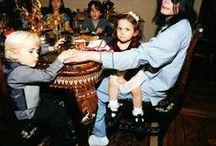 MJ with children