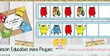 Seriaciones Infantil / Fichas e imprimibles para trabajar las series,   con educativos juegos de seriaciones