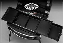 MAKE UP TROLLEY CASES WITH LIGHTS AND MIRROR / Full range of  mobile stations for makeup artists, nail artists and hairdresser. Cantoni handcrafts make up cases with legs, makeup stations, makeup chairs, led lighted mirrors for beauty artists. 100% italian crafting, 2 years warranty.