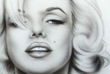 Celebrities portraits drawings / by toos van Es