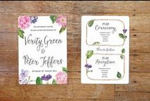 Wedding invitations / The range of Vintage Designs wedding stationery.