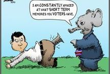 Political Humor & Not That Funny Cartoons / by Vanie L.