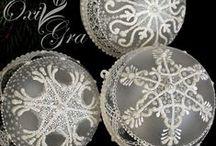 BOŻE NARODZENIE -  CHRISTMAS https://www.facebook.com/oxigragallery / Ręcznie malowane bombki, ozdoby. https://www.facebook.com/oxigragallery