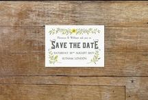 Save the Date with Style / Choose the perfect way to ask your guests to save the date for your wedding. This is the first statement you will make about your wedding- make sure it is a good one! All our Save the Date designs have coordinating invitations, RSVP and info cards, table plans, placecards, and thank you cards.