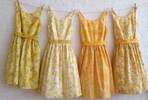 Vintage Yellow / Pops of colour, mustard, gold, lemon and honey, warm sunshine happiness!