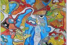 My paintings / Passionné d'art, je puise mon inspiration dans les civilisations antiques ou actuelles , dans de grands mouvements artistiques comme l'art brut , le surréalisme ou encore le street art.                                    Crazy about art , i take my inspiration in the different cultures and civilisations around the world. Surréalisme , l'art brut or street art are my favorite art styles.