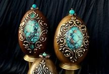 HAND-PAINTED EGGS DECORATIVE Ręcznie malowane pisanki / Moje prace OxiGra My work hand-painted OxiGra