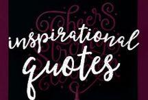 Inspirational Quotes / Inspirational quotes drawn on chalkboards!